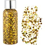 Glitter Make Up, viso glitterato, corpo luccicante, corpo luccicante, argento olografico glitter Sequin Chunky Glitter per vi