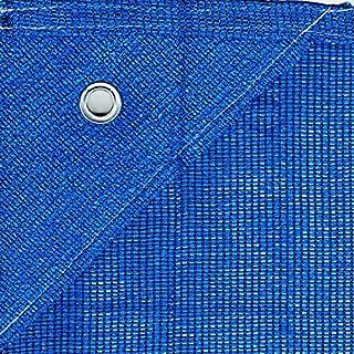 Bauzaunnetz Bauzaun Sichtschutznetz für Bauzaun 1,80m x 3,45m 150gr/m² (blau)