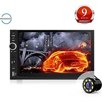 Mytvs tav 40 double din hd touch screen car stereo media player woodman doubledin wm 2019 with fmbluetoothusb 1080px full hd car stereo double din with car led rear view camera fandeluxe Images