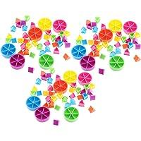 yotijar 126 Pièces pour Trivial Pursuit Game Fraction Math Games Tools for