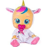 CRY BABIES Fantasy Dreamy l'unicorno - Bambola interattiva che piange lacrime vere con ciuccio e Pigiama, per Bambini e…