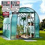 BRAST Serre de Jardin 6m2 (3x2) extrêmement stable : Tubes d'acier galvanisés et Film spéciale de protection grillagé 175 g/m
