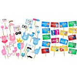 Party Propz™ Baby Shower Photobooth (STO2197+BABPO09) / Baby Shower Party Supplies/ Baby Shower Party Decoration / Baby Showe