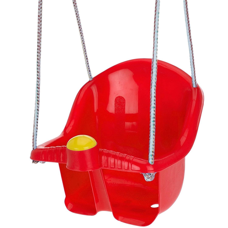 Swing Seat Garden Outdoor Rope Childrens Baby Kids Toddler Plastic