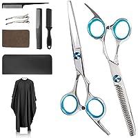 Haarschere Set, Profi Haarschneideschere, Friseurscheren aus Edelstahl zum Ausdünnen und Strukturieren, Premium Schere…
