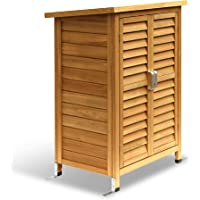 MCombo Garden Cabinet Tool Shed Garden Shed Cupboard Wood 0690
