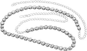 Nishivjewels White Rodium Kundan Waist/Belly Chain Kamarbandh for Women