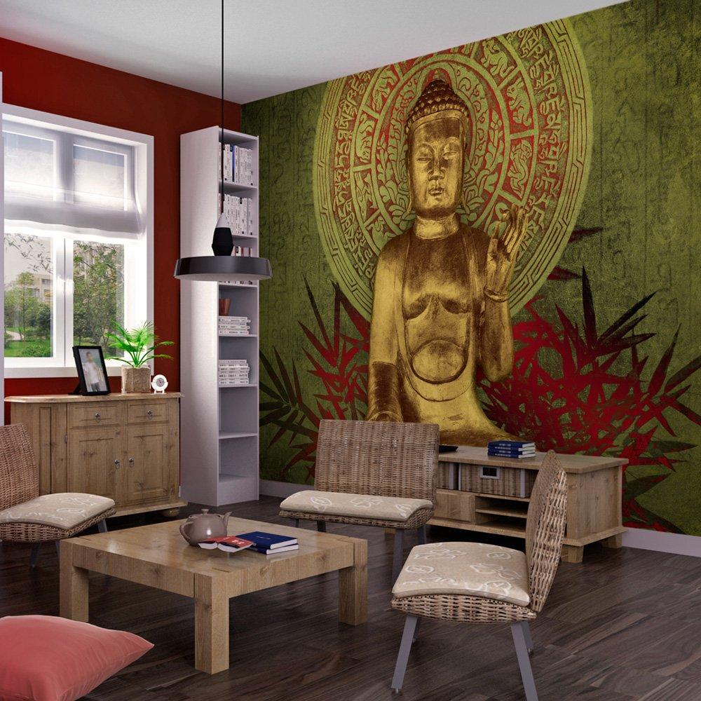 wallpaper 300x231 cm nonwoven murals wall mural photo 3d modern buddha amazoncouk diy u0026 tools