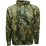 YCC® Mens Forest Camouflage Combat Tracksuit Pullover Fleece Hoodie | Warm Casual Army Military Camo Tree Sweatshirt Hooded H