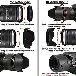 SUPERNIC 55mm Reversible Lens Hood for Nikon D5600, D3400 DSLR Camera with Nikon 18-55Mm F/3.5-5.6G Vr Af-P Dx and Nikon...