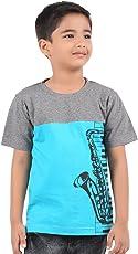 BodyGlove Boy's Cotton Round Neck Printed Design Half Sleeves T-Shirt