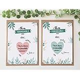 Lot de 2 cartes à gratter marraine et parrain - Coeur - Demande parrain - Demande marraine - Annonce parrain marraine