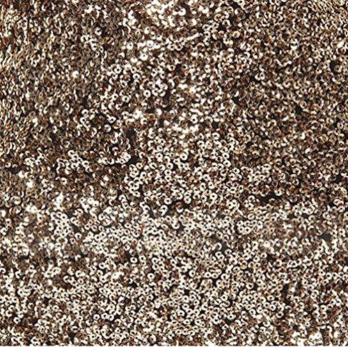 Schiveen Damen Kleider, Mini Kurzkleid, Gold Pailletten (S, 01) - 6