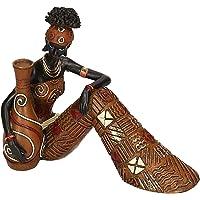 Vacchetti S.p.A Statua Donna Africana Seduta con Anfora Resina cm.19