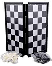 BestBuyToy Folding Smooth Surface Magnetic Chess Board Black and White Size 9.5-inch