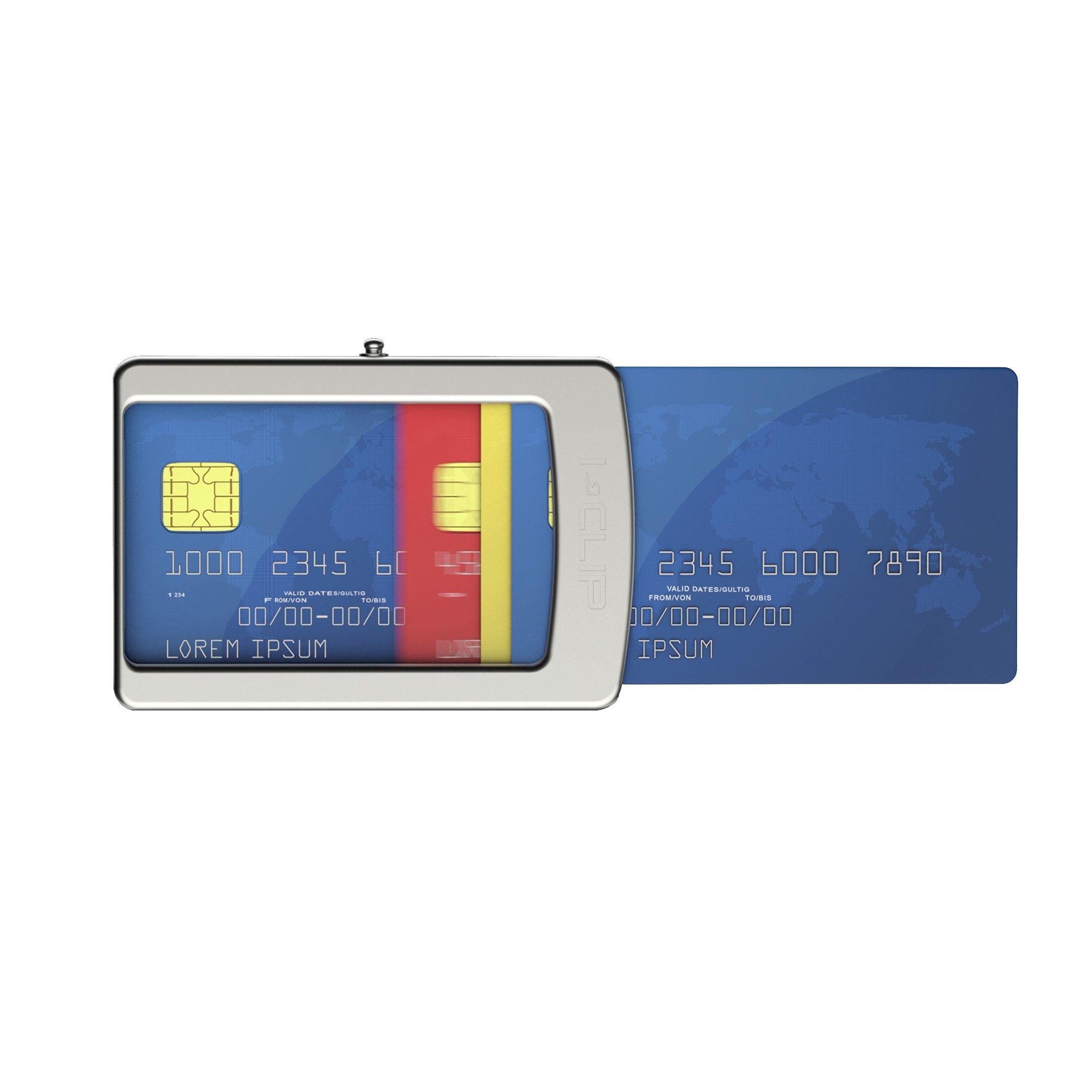76d4d09019 I-CLIP NERO CARBON Portafoglio con clip Porta Banconote Carte Di Credito  Slim Magic Wallet. Amazon.it ...