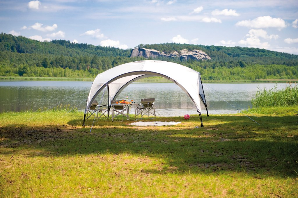 Coleman Gazebo Event Shelter for Festivals, Garden and Camping, sturdy steel poles construction, large Event tent, portable sun shelter with sun protection SPF 50+ 4