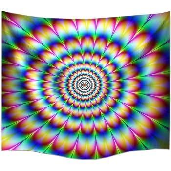 A Monamour 60 X 60 Psychedelischen Drehen Um Dizzy Bild Blumen