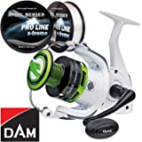 Dam Quick Combat FD Welsrolle Meeresrolle Angelrolle gratis Pro Line x-Treme Schnur