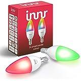 Innr E14 Smart LED-kaarslamp Color, compatibel met Hue*, Alexa & Google (bridge vereist), dimbaar, 16 miljoen kleuren, RGBW,