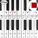 Autocollants de Piano de Couleur Autocollants Piano Noir Autocollants Piano de Remplacement avec Mini Bâton de Montage, Chiff