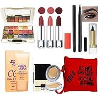 volo Stylish Beauty combo makeup set (3 Pcs Lipsticks,1 Eye Shadow, 1 CC Cream,1 Eyeliner, 1 Compact, 1 Kajal, 1 Pouch…
