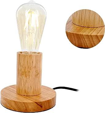 MSTAR Tischlampe ohne Schirm Nachttischlampe mit Schalter