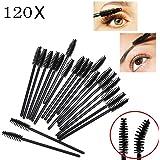 JZK 120 stuks wegwerp-wimperborstels, wimperkam, mascara-borstel voor make-up