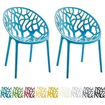 CLP 2er-Set Design Gartenstuhl Hope aus Kunststoff ...