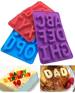 Random Color 26 Lowercase Letters Ice Cube Trays Non-Stick Cup Cake Decor Pudding Chocolate Pudding Bakeware Set