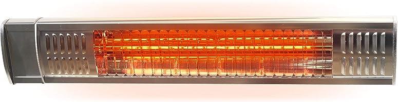 Gardigo Infrarot Heizstrahler für den Außenbereich | Garten, Garage, Terrasse, Werkstatt | 2000 Watt | Wandhalterung | Angenehme Wärme | Edelstahl - Aluminiumblende