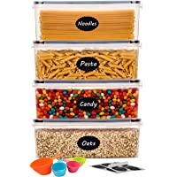 Aitsite Boîte Hermétique de Conservation Alimentaire 4Pcs Set 2.3L, Contenent Hermétique Plastique pour Spaghetti, Pasta…