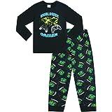 The Pyjama Factory World Wide Gamer Gaming All Over Gaming - Pijama largo de algodón, color negro y verde