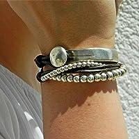 Fatto a mano -Braccialetto dell'involucro fatta da Intendenciajewels - Bracciali in pelle - braccialetto di perline…