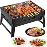 Mbuynow Holzkohlegrill Tragbarer BBQ Grill Klappgrill Camping Grill Picknickgrill für Garten Party Barbecue Camping (L 34cm x W 30cm x H 20cm)