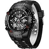 Reloj de Pulsera Deportivo para Hombre, Resistente al Agua, cronómetro, Fecha, Alarma, Luminoso, Digital, analógico, Militar,