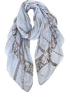 824d120b0562 8m Long foulard pour femme Motif à poids Gris  Amazon.fr  Bricolage