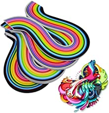 Lovely 400 Rainbow Strips Mixed 3mm Handcraft Origami Paper Quilling Paper Handmade Cards Flower Paper Crafts DIY Home Decor
