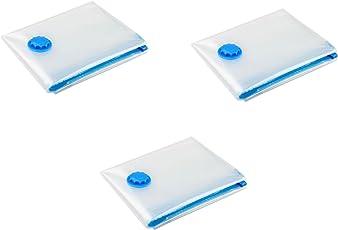 VACUUM PACKERS Plastic Real Space Cloth Vacuum-Storage Bags (Transparent, 50x70x0.5 cm)-Pack of 3