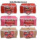 Yellow Weaves™ Combo of Underbed Storage Bag, Storage Organiser, Blanket Cover with Designer Handles