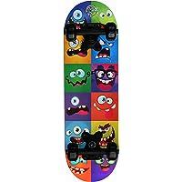 Skatemax Skateboard Junior per Bambini da 5-10 Anni (Monster Face)