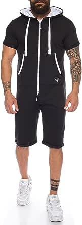 Raff & Taff RTJ615 Men's One-Piece Full Body Suit Jumpsuit Jogger Summer Sports Leisure Short Training M - XXL