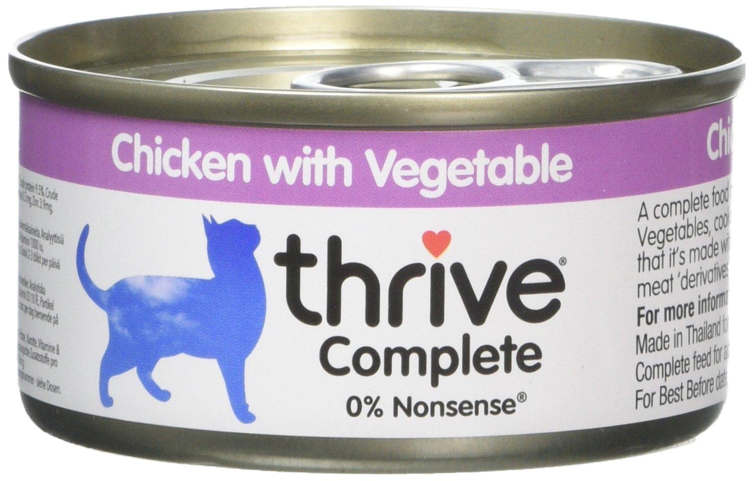thrive – Comida para Gatos con Verduras, 6 Unidades