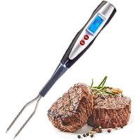 Westmark Fourchette à Viande avec Thermomètre, Avec Ecran LED et Lampe, Longueur: 38,5 cm, Acier Inoxydable/Plastique…