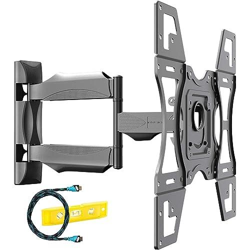 Invision Supporto TV per 26-60 Pollici Schermi Staffa TV a Parete Ultra Forte Inclinazione e Girevole a Braccio Singolo per LED HD 4K HDR UHD Smart - Max. VESA 400x400mm - Fino a 40 kg (HDTV-L)