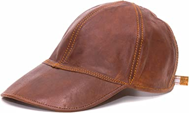 Goatter Boy's Leather Summer Cap Brown_Free Size