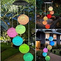 HASTHIP® Outdoor Solar Color Changing LED Light Lamp 6 Balls Mobile Romantic Wind-Bell Chimes for Home, Festival Decor, Garden Decoration
