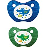 nip Feel! Soothers Silicone, 5-18M - Blue & Green