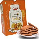 LAKSHYA Freshly Handcrafted Desi Ghee Atta Biscuits Whole Wheat Cookies Enriched with High Fibre & Energy (400 g Pack of 1)