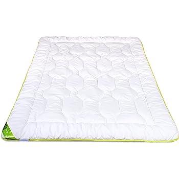 Sommerdecke Bettdecke 100/% Baumwolle Sommer 135x200 155x200 180x200 220x200 weiß